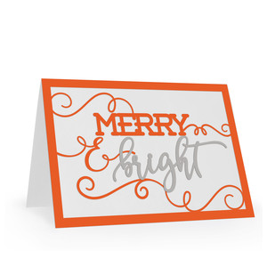 season's  greetings card - merry and bright