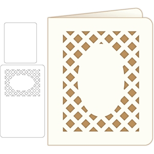 rounded lattice card