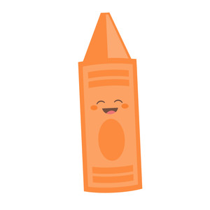 cute orange crayon