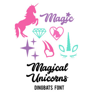 magical unicorns dingbats font