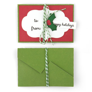 christmas self closing envelope