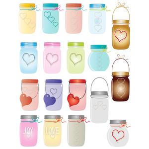 mason jars planner stickers