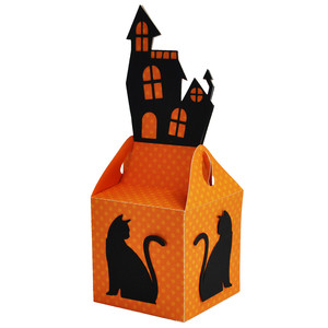 haunted house topper treat box