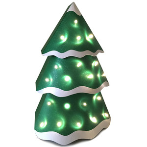 3d tree farm lit tree