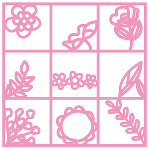 grid of flowers