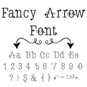 fancy arrow font