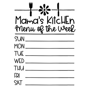 mama's kitchen menu of the week