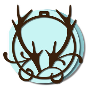 ornament card - antlers