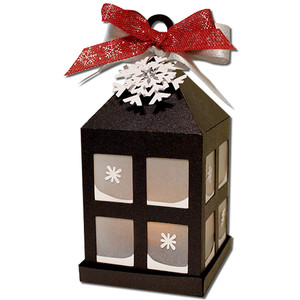 christmas hanging tea light lantern