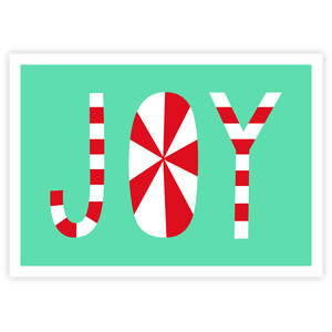 peppermint joy card - a2 & a7