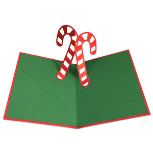 candy cane pop-up card