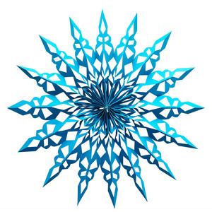 giant 3d snowflake (14.5 inches)