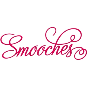 'smooches' word art