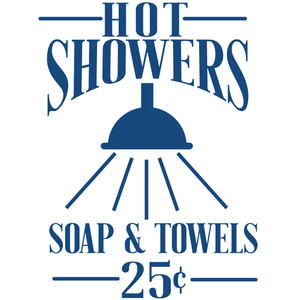 hot showers sign