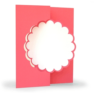 3d flip swing card scalloped