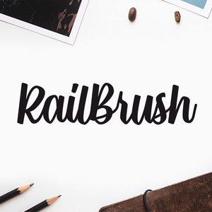 rail brush font
