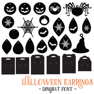 halloween earrings font