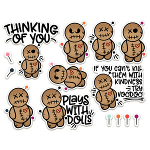 voodoo doll stickers