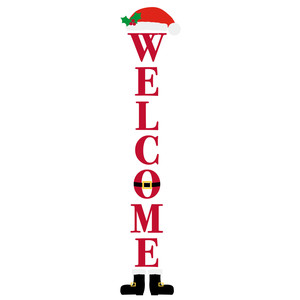 welcome santa porch sign