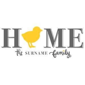 home chick family porch sign