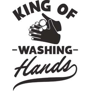 king of washing hands