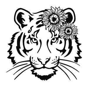 sunflower tiger