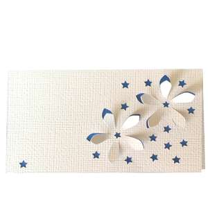 star flower 3d place card