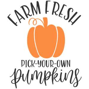 farm fresh pick your own pumpkins