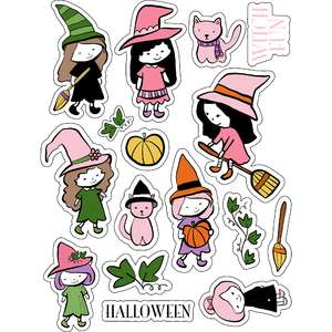 ml witch girl stickers