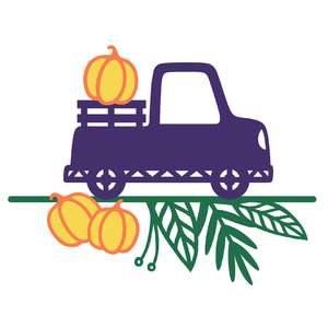 pumpkin truck arrangement