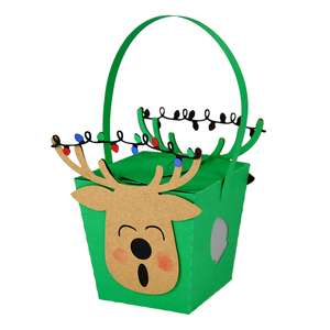 hanging prancer box ornament lantern
