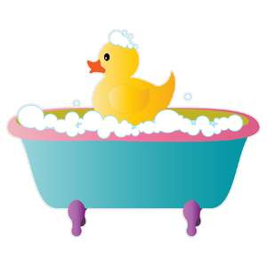 ducky in a bath