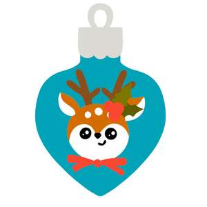 christmas ornament with raindeer