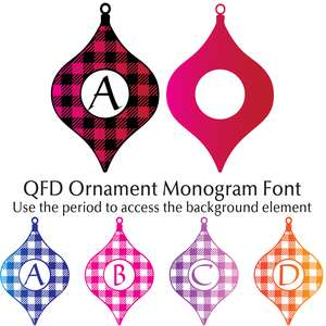qfd ornament monogram font