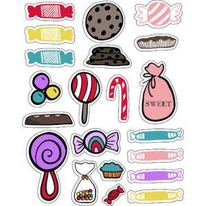 ml christmas candy sweet stickers