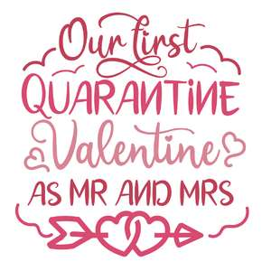 our first quarantine valentine as mr and mrs