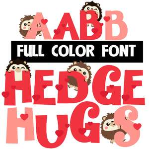 hedge hugs color font