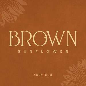 brown sunflower
