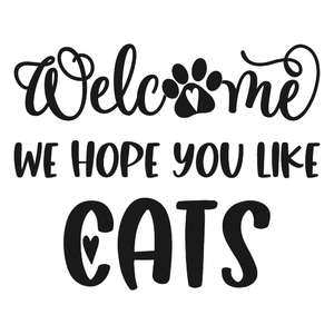 welcome we hope you like cats