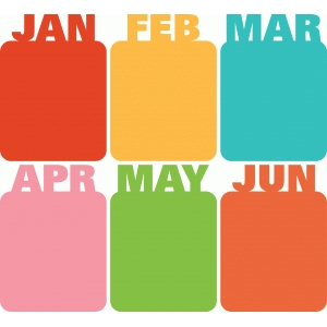 3x4 life cards months january-june