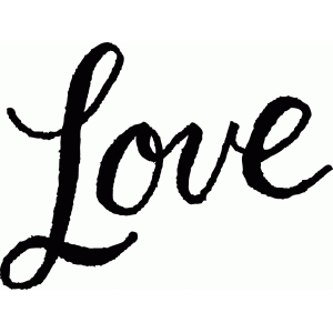calligraphy love word