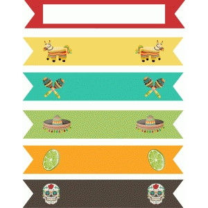 fiesta straw/cupcake flags
