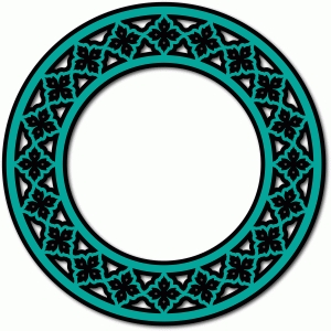 arabesque circle frame