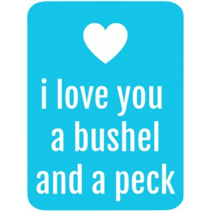bushel and peck 3x4 life card