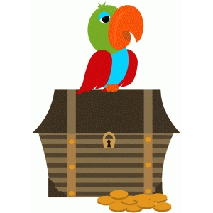 parrot and treasure chest