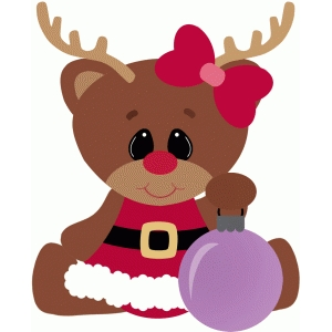 reindeer girl christmas ornament