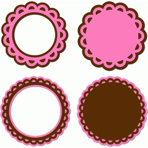 circle scalloped frames doilies