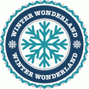 winter wonderland label