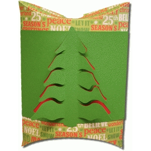 3d christmas tree large pillow box