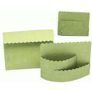 bendy card envelope set scalloepd design